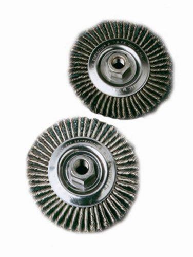 United Abrasives SAIT 06385 6 x .020 x 5//8-11 Arbor Regular Twist Pipeline Brush Angle Grinder Wire Wheel