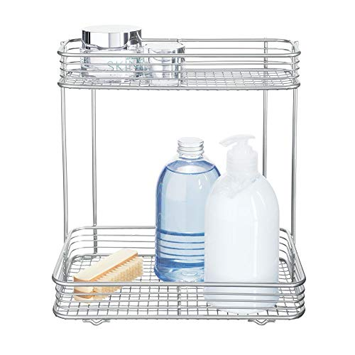 InterDesign Vienna 2-Tier Rectangular Shelf for Cosmetics and Toiletry Storage, Bathroom, Countertop, Desk, and Vanity, ()