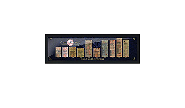 Size: 8 x 24 Mustang Product New York Yankees 1923-1943 World Series Tickets to History Photo Framed