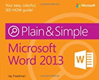 Microsoft Word 2013 Plain & Simple Front Cover