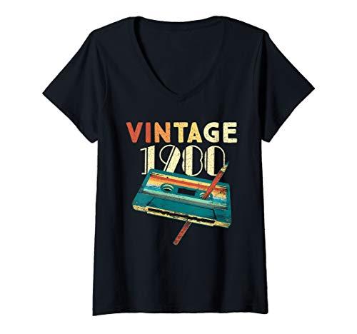 Womens Vintage 1980 Music Cassette Birthday T-shirt Gift