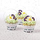 May Day White Basket Wrap Cupcake Muffin Liners