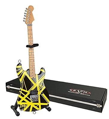 EVH Minature Guitars EVH002 Mini Replica Guitar Van Halen, Black & Yellow by EVH Minature Guitars