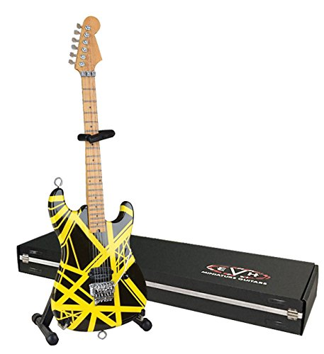 EVH Minature Guitars EVH002 Mini Replica Guitar Van Halen, Black & Yellow
