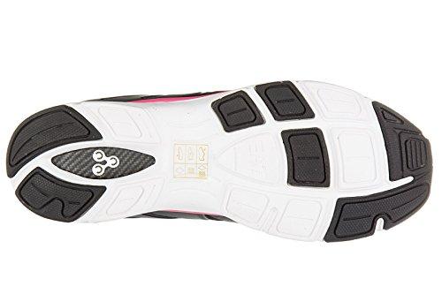 Emporio Armani EA7 chaussures baskets sneakers femme c-cube vigor noir