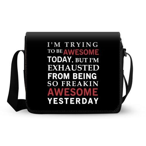 Amazoncom Funny Quotes Saying Messenger Bag Im Trying