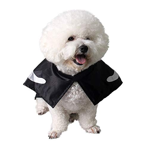 Autumn Water Cool Black Skeleton Printed Pet Cat Dog Halloween Costume Cosplay Cloak Shawls Cape Masquerade Birthday Party Gift Pet Supplies