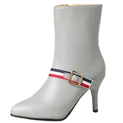 RAZAMAZA Women Sexy Stiletto High Heel Ankle Booties with Side Zipper Grey RwjHp