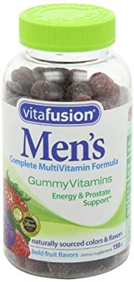 Vitafusion Men's Gummy Vitamins-150 Gummies (Bold Fruit Flavors) Economy-Pkg of 5