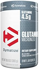 Dymatize 100 Pure Glutamine, Unflavored, 10.6 Oz