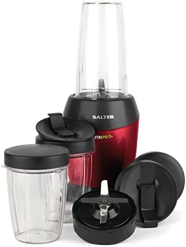 Salter EK2002V2N NutriPro Super Charged Multi-Purpose Nutrient Extractor Blender   50 Healthy Recipes Included   1 Litre   1200 W   BPA-Free   Red