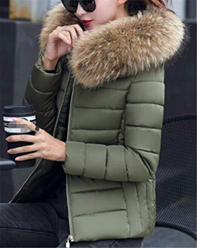 Con Slim Solidi Colori Armgr Cappotto Invernali Calda Cappuccio Libero Eleganti Cappotti Manica Forti Grazioso Pelliccia Trapuntato Giorno Piumino Donna Tempo Moda Fit Taglie Lunga Outdoor Corto In AwSxq4wR0