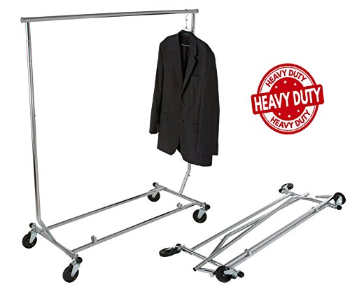 (Only Hangers GR100 - Heavy Duty True Commercial Grade Rolling Rack Designed with Solid