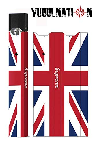 YuuulNation Juul Skin, Wrap, Vinyl, Decal, Full Size, NO Gap (British Flag ()