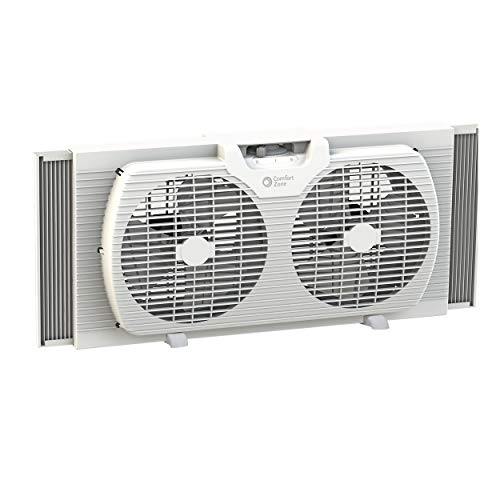 Comfort Zone CZ319WT 9-inch Twin Window Fan with