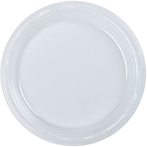 Hanna K. Signature Collection 100 Count Plastic Plate, 10-Inch, Clear