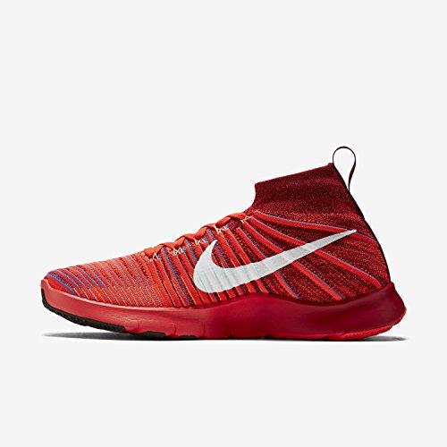 Nike Mens Free Tr Force Flyknit Scarpe Da Corsa Team Rosso / Bianco-luminoso Rosso Cremisi-foto