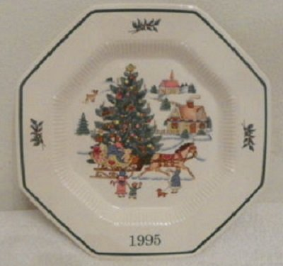 Nikko Nikko Happy Holidays Christmastime 1995 Collectoru0027s Plate, Jingle  Bells , Christmas Dinner Plates
