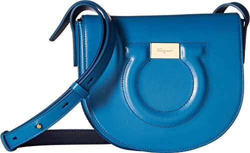 - Salvatore Ferragamo Women's Gancio City Crossbody Bag, Azure, Blue, One Size