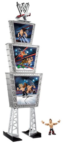 WWE Rumblers Evan Bourne Figure Deluxe Triple Titantron Launcher