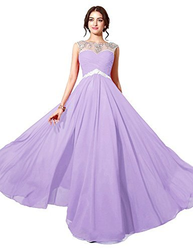 [Sarahbridal Women's Long Prom Dress SD196 Lilac US12] (Plus Size Formal Dresses)