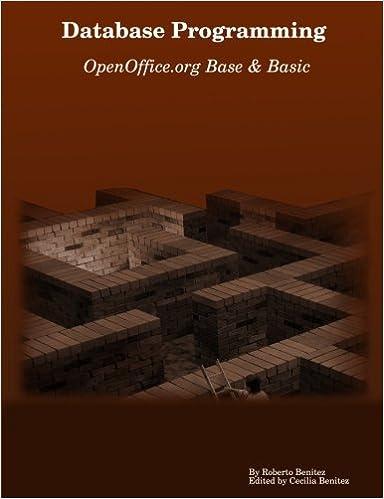 Database Programming with OpenOffice org Base & Basic: Roberto