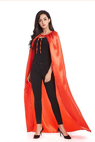 Crizcape Adult Halloween Costumes Cape Cloak Knight Witches Vampires Cosplay(XL,Red) ()