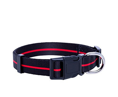 Firefighter Dog Collar/ Thin Red Line Dog Collar (Small)