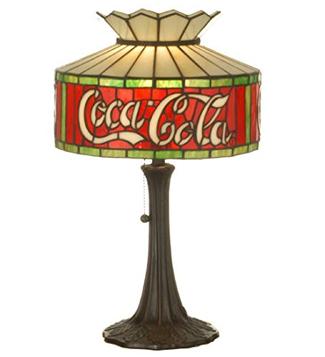 Stained Glass Tiffany Style Light Cocacola Accent Table Lamp Arrowhead Glass Table Lamp