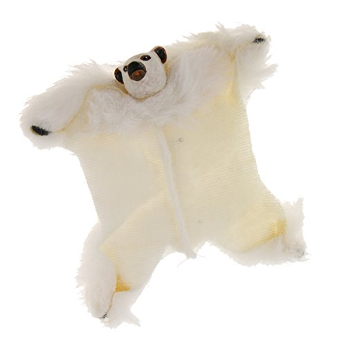 MonkeyJack 1:12 Scale Dollhosue Miniature Fabric Bear Floor Rug Carpet Accessory Decor from MonkeyJack