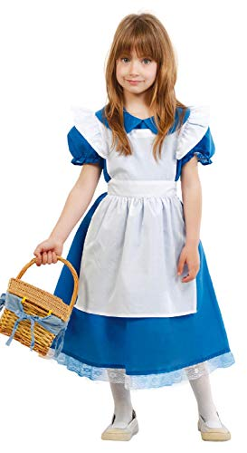 Girls Traditional Blue White Goldilocks TV Book Film World Book Day Week Fancy Dress Costume Outfit 5-12 Years (5-6 Years)