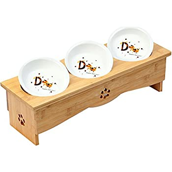 Pet Supplies Baron Triple Bowl Dog Diner Raised Feeder