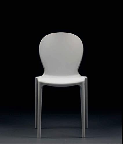 Set 4 Sedie Musa In Polipropilene Colore Bianco Impilabile Made In Italy Bianco 4 Amazon It Casa E Cucina