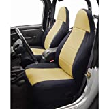 Coverking Custom Fit Seat Cover for Jeep Wrangler YJ 2-Door - (Neoprene, Black/Tan)