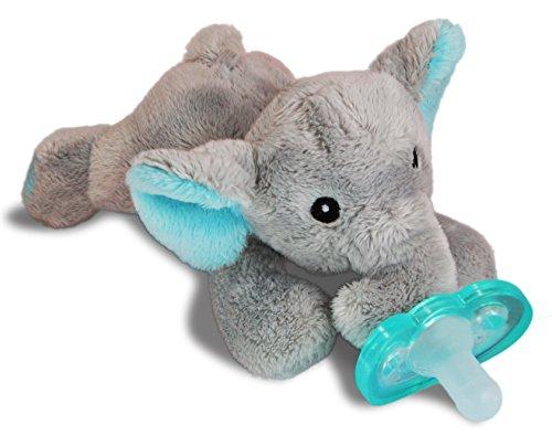 RaZbaby RaZ-Buddy JollyPop Pacifier Holder/Pacifier Removable/Elephant