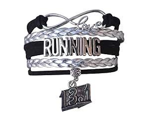 Running Gifts- Runner Bracelet, Running Jewelry, Half Marathon, 13.1 miles Adjustable Running Charm Bracelet- Perfect Runner Gift