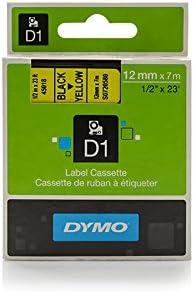 Dymo 45018 S0720580 Standard-D1-Band 12mm schwarz auf gelb f/ür Dymo Labelmanager 400