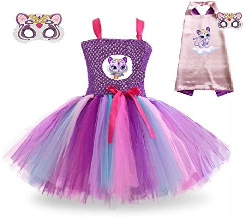 Arabian Purple Snow Tiger Tutu Dress Costume from Chunks of Charm (3T Dress) ()