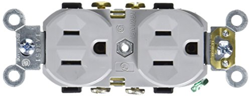 Leviton CR15 GY Receptacle Commercial Grounding