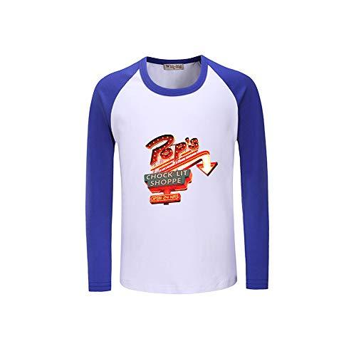 Lunga Stampate Per Donne Top Estive E Uomo Collo Riverdale Maglietta Loose Manica Casual Rotondo Gogofuture Blue06 TAqqp