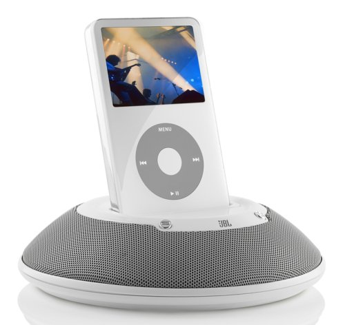 JBL - On Stage Micro - Portable Speaker and Docking Station for iPod (White) (Jbl Ipod Player)