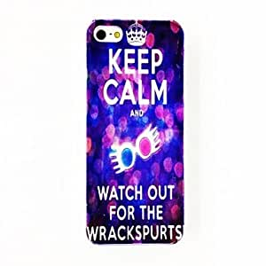 Punk Star Sky Crown Keep Calm Pattern TPU Soft Case for iPhone 5/5S , Multicolor
