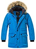 ZSHOW Boy's Active Hooded Puffer Jacket Padded Winter Coat Mid-Long Thicken Warm Outwear
