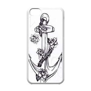 Printed Phone Case Nautical Anchor For iPhone 5C Q5A2113268