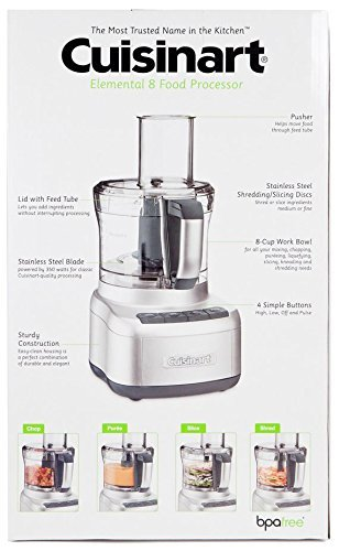 64286b071943 Cuisinart Elemental 8 Cup Food Processor Silver: Amazon.ca: Home & Kitchen