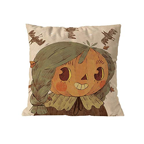 fujingkejiyouxia  Halloween Comfy Bolster Pillow Covers Cases for Couch Sofa Bed Comfortable Supersoft Corduroy Corn Striped Both Sides 12 X 20 Inches Cream (A) -