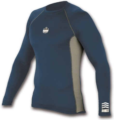 mance Work Wear 6415 Long Sleeve Shirt, Navy, Medium (Ergodyne Core)