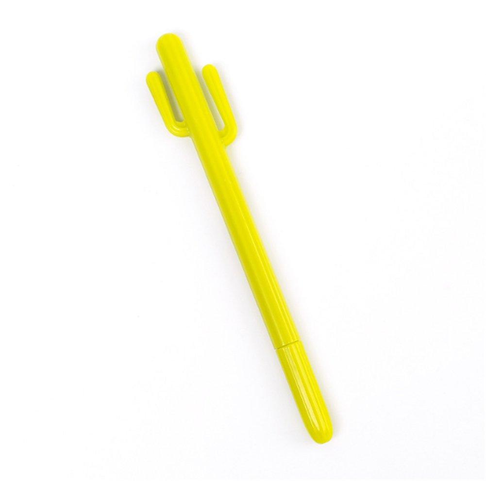 Gysad Gelstifte, schwarze Tinte, 0,38 mm, feine Spitze, Kaktus-Kugelschreiber-Set für Mädchen, Jungen, Schule, Büro, Schreibzubehör, 3 Stück, Khaki grau