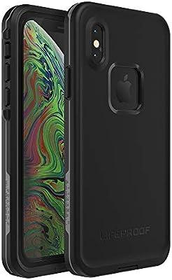 buy online 4f6a1 31a05 Lifeproof FRĒ SERIES Waterproof Case for iPhone Xs - Retail Packaging -  ASPHALT (BLACK/DARK GREY)