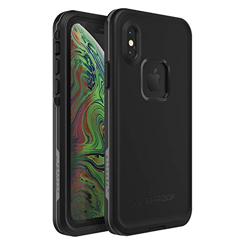 Lifeproof FRĒ SERIES Waterproof Case for iPhone Xs - Retail Packaging - ASPHALT (BLACK/DARK GREY)
